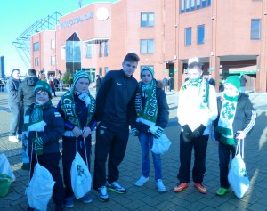 Latharna Og boys with James Forrest